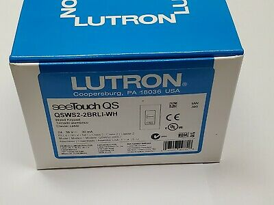 NEW White Lutron QSWS2-2BI-Wh SeeTouch QSWS2 See Touch 24V QS Two Button Dual
