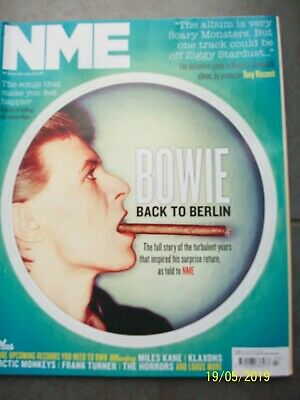 NME New Musical Express 19 January 2013 DAVID BOWIE Cover Tony Visconti Klaxons