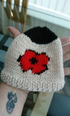 Poppy Tea Cosy Hand-knit Knitted New