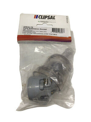 Clipsal 438HD 250VAC 10A Cord Extension Socket 1mm Heavy Duty 438