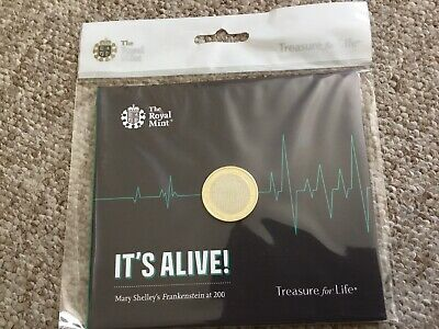 2018 Frankenstein sealed £2 two Pound Coin Mary Shelley Uncirculated