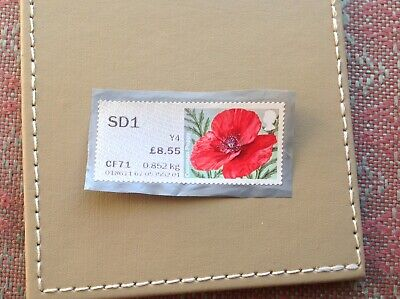Gb Post And Go Unfranked Stamp On Paper /Plastic