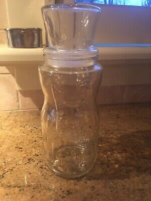 VINTAGE 1991 Mr. Peanut Planters 75th Anniversary Glass Jar/Canister Top Hat