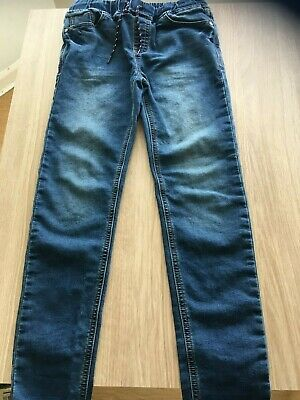 Next Boys Skinny Jeans X 2 Pairs   Age 11 Blue Fade And Black Free Post