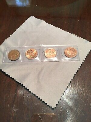 1p One Penny Coins Mint Uncirculated X4