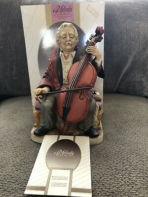 "Melody In Motion BISQUE ""The Cellist""  by WACO Collectible Vintage"