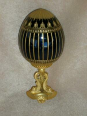 Faberge Royal Blue and Gold Egg-FREE SHIPPING