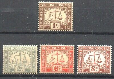 Stamps Br. Commonwealth. Hong Kong - 1923/63 Selection U/M Postage Dues (4 Vals)