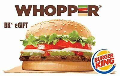 $100.00 Burger King eGift Voucher, Free Delivery, No Reserve 3 Day Auction