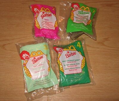 Barbie Figurines-Mcdonald's-Choose One Set From The Three Shown! Free Shipping!