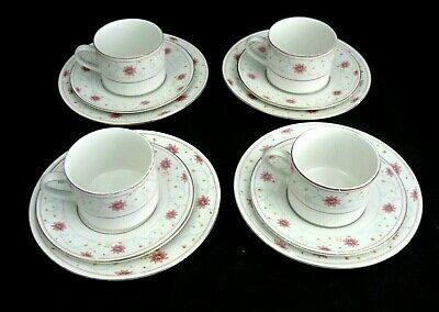 QUEENS LUXURY SELETED CHINA 12 piece Tea Cup Saucer & Plate Set / Coffee & Cake