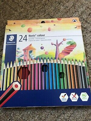 Staedtler 185 C24 Noris Colour Colouring Pencil - Assorted Colours- Pack of 24