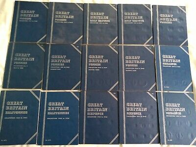 Collection Of 15 Whitman Coin Folders In Good Condition