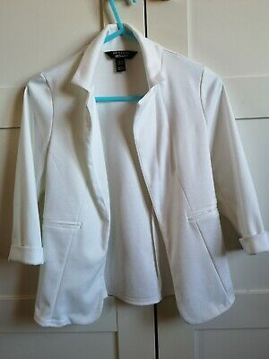 New Look 915 Generation Aged 9 Girls White Jacket for formal or casual