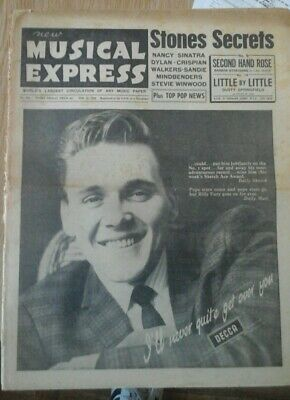 Nme Feb 11 1966 Billy Fury Cover