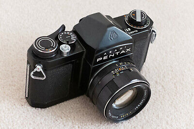 Classic Pentax S1a Black Paint 35mm SLR Camera & 55mm f2 - Beautiful Condition !