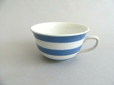 Vintage Retro Blue White T G Green Cornishware Tea Cup With Green Shield Stamp