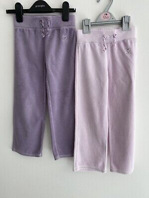 Girls Jogging Bottoms X 2 Pairs Lavender Lilac Age 4-5 Years