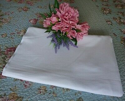 Vintage White Cotton Single Bed Sheet CC41 WWII, Home Front Bed Linen