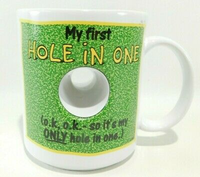 The Golf Hole in One Mug-Hole Through Cup-Coffee-Tea Cup Fathers Day Gift-PGA