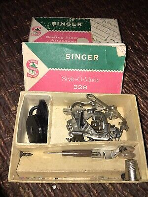Vintage Singer Sewing Machine Attachments Style-O-Matic 328