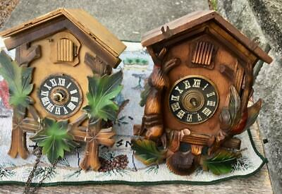 2 German Black Forest Cuckoo Clocks for Parts or to Repair