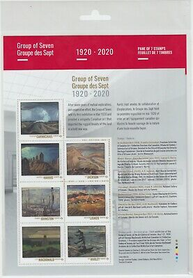 Canada - *NEW* Group of Seven Art Stamp Pane - 2020  - MNH