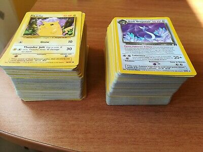 Pokemon Lotto Lot 250 carte 500 Grammi Carte Pokémon WOTC NO ENERGIE + CARTE JAP