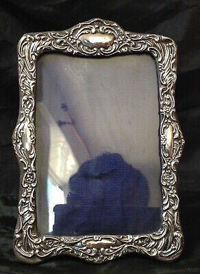 Birmingham 1902 Antique Silver Photograph Frame, Cloth Back. Self Standing