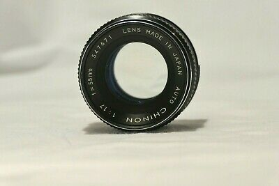 AUTO CHINON 55mm F/1.7 PRIME LENS JAPAN M42 SCREW THREAD EXCELLENT WORKING ORDER