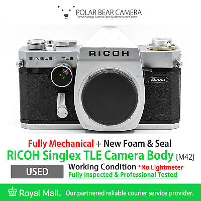 ⭐TESTED⭐ RICOH Singlex TLS M42 SLR 35mm Film Camera *NEW SEAL* [READ]