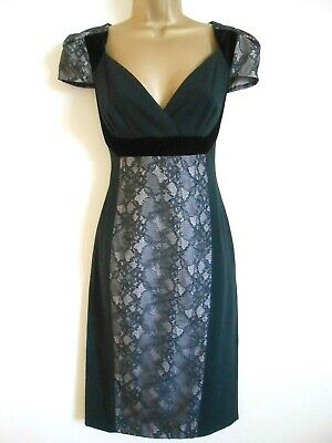 MARKS & SPENCER M&S Autograph Size 10 NWOT Black Lace Wiggle Dress Party