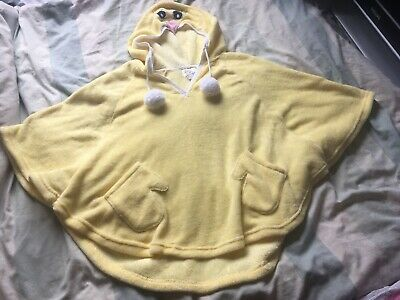 Primark Love to Lounge Duck Animal Yellow Hoodie Pyjamas Top Warm Soft One Size