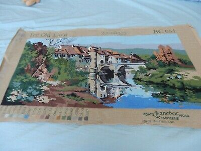 """Completed Tapestry Penelope 'The Old Town'  BC651  36""""x  20.""""  Large -Nice"""