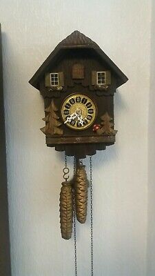 Vintage Cuckoo Clock Germany spares or repairs working condition