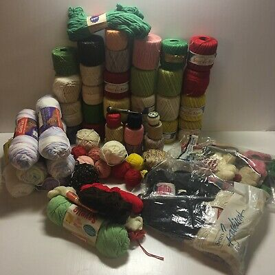 Huge Lot Of Vintage Thread Yarn Sewing