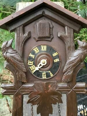 German Black Forest Cuckoo Clock for parts or to Repair