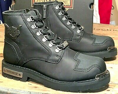Harley-Davidson Men's Size 8 1/2 M Side Zipper Motorcycle Boots Daleview D93519