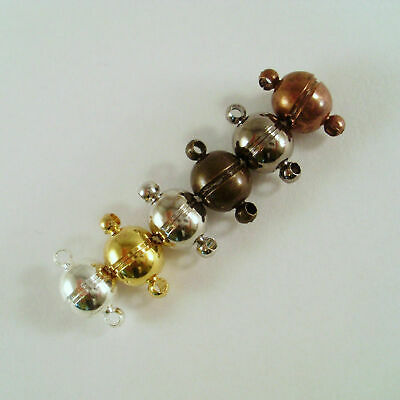 5x Magnet Clasp 14x8mm Silver Gold Copper Bronze Black Closure Strong