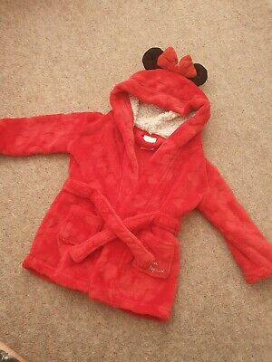 Baby Girls Minnie Mouse Dressing Gown Age 9-12 Months Disney
