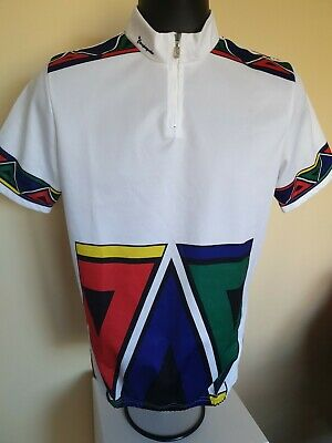Vintage Campagnola White Funky Cycling Jersey Size 5