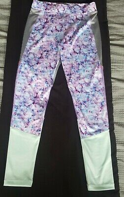 Girls Multicoloured Gym/Workout Leggings From Matalan Aged 10-11 Years