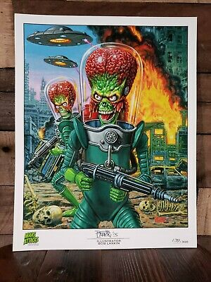 Rare Mars Attacks Occupation Illustrator Litho Bob Larkin Artist Print /300