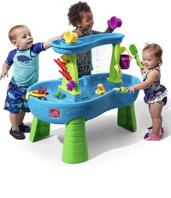 Kids Water Play Table with 13-Pc | Step2 Rain Showers Splash Pond Water Table