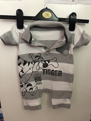Disney Baby Clothes Winnie The Pooh Tigger Romper Outfit All In One 3-6 Months