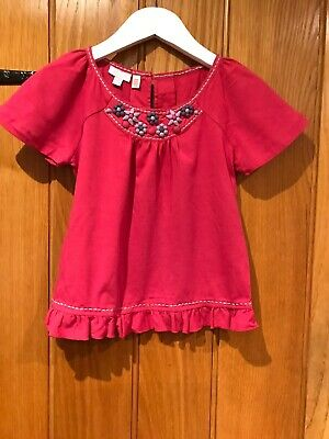 Monsoon Girls Lovely Pink Top Age 4-6 Yrs Excellent Condition