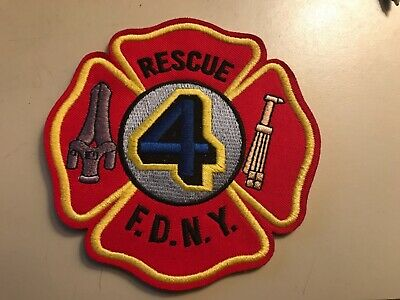 New York NY Fire Dept FDNY Rescue 4 Patch