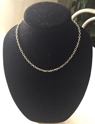 David Yurman Small Oval Link Chain Necklace in Sterling Silver