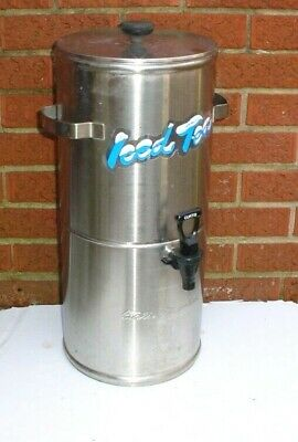 Curtis 3 Gallon Ice Tea Dispenser Streamliner  Model TC-3H Round    S.Steel NSF