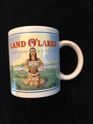 LAND O'LAKES BUTTER, Ceramic Coffee Cup / Mug, VINTAGE